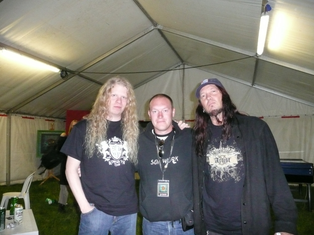 Warrel (right), Jeff Loomis and I, Bloodstock Open Air Festival 2007