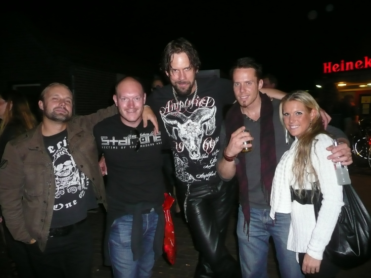 Tommy second from the right), Seventh Wonder & I, Progpower Europe 2011