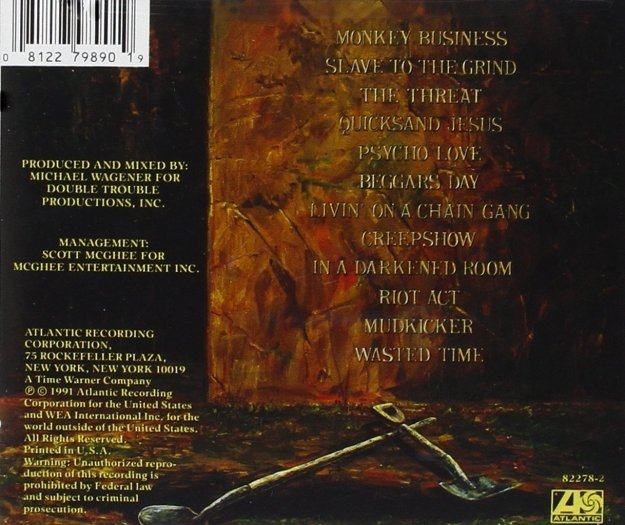skid row back cover