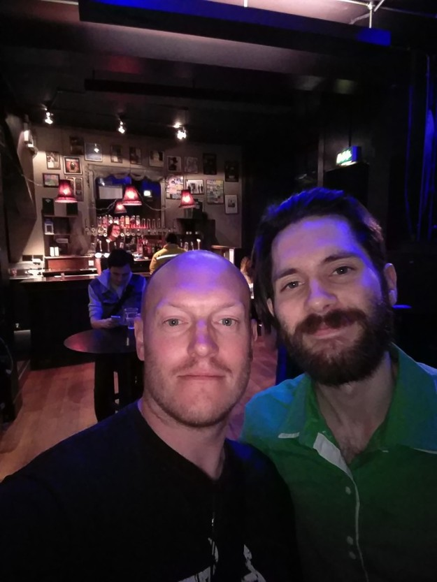 Conner Green and I in the bar after the show